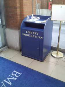 BMA Library Book Return Box