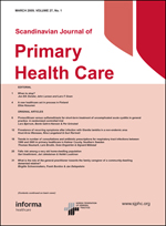 Scandinavian Journal of Primary Health Care