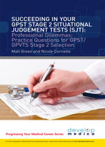 Succeeding in Your GP ST Stage 2 Situational Judgement Tests